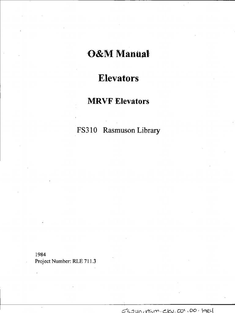 manual otis elevator bearing mechanical rh scribd com Otis Elevator Diagrams Otis Elevator Logo
