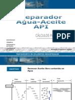 Calculo Diseño Separador-Agua-Aceite-API