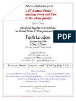 6th Annual Picnic for Faith Loudon for Congress