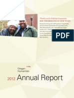 Oregon Humanities 2012 Annual Report