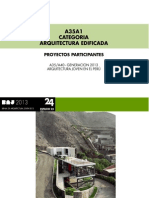 CATEGORIA A35 / ARQUITECTURA EDIFICADA