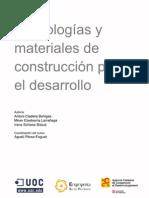 Tecnologia y Materiales de Construccion Para El Desarrollo