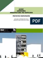 CATEGORIA A35 / ARQUITECTURA NO EDIFICADA