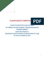 Clasificador de Competencias Autonómicas