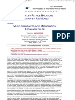 Euler and Music, By Patrice Bailhache, Translated by Joe Monzo