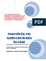 Antropología Ecológica. Andrea Rougier