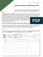 Gerentedeprojeto.net.Br-Anlise Qualitativa de Riscos Com Apoio Do MS Project 2013