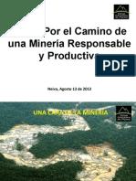 Camara de Colombiana de La Mineria Neiva Agosto 13 2013