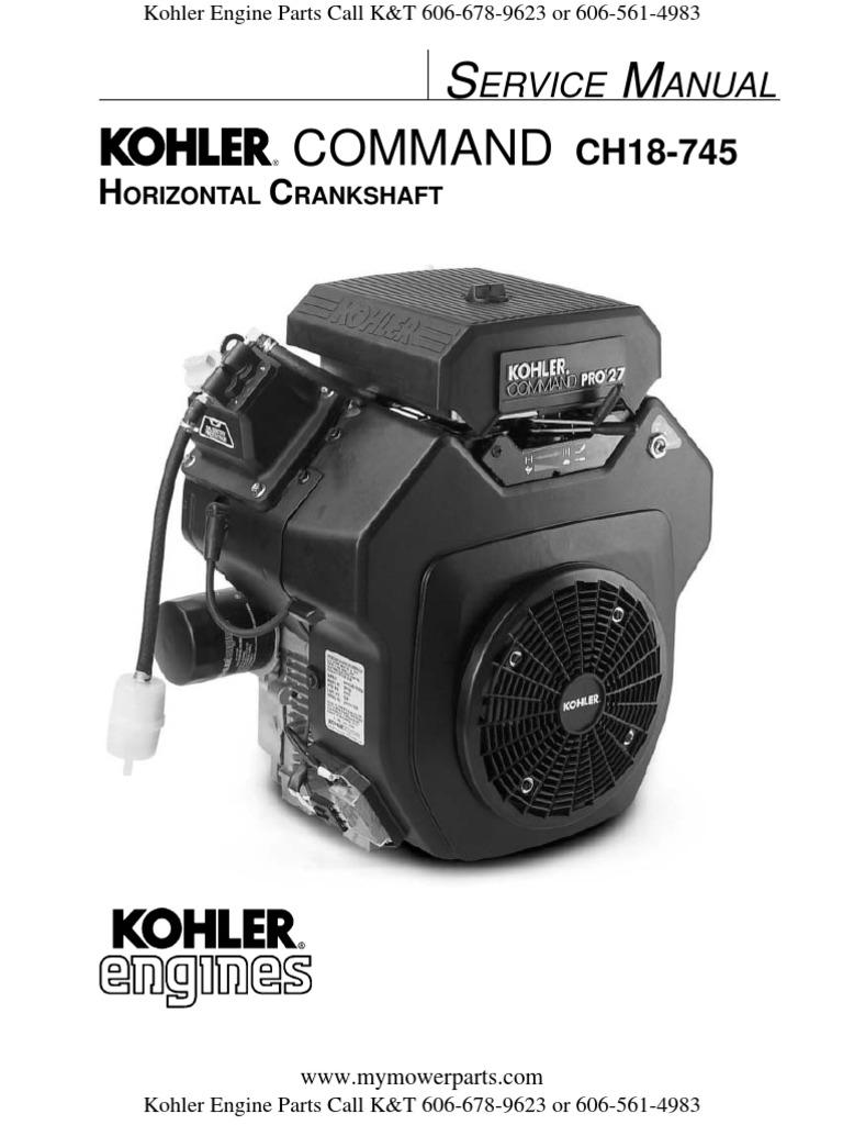 Kohler ch20 Manual