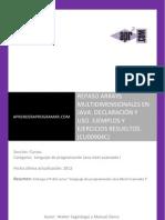 CU00904C Arrays Multidimensionales en Java. Ejemplos y Ejercicios Resueltos