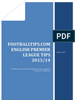 Footballtips.com English Premier League 2013-2014 Tips & Picks
