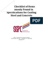 Specification Checklist for Steel and Concrete Coating