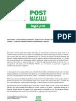 Conversazione Gessa-Ghirelli + Riferimenti Normativi Lega Pro