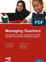 Leading and Managing Teachers