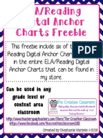 El a Reading Digital Anchor Charts Freebie