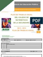 Plan Anual de Matematicas 2012-2013