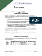 Scoggins Report - August 2013 Pitch Market Scorecard
