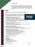 Especificaciones Nutricionales PIC 2008