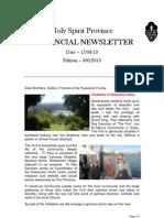 Provincial Newsletter Ed 036 - 15 08 13