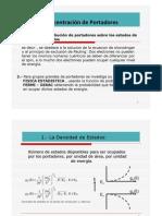 Distribucion y Concentracion de Portadores