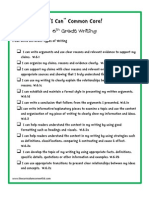 6th grade writing - i can statements