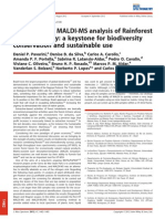 2012 Pavarini - Application of MALDI-MS Analysis of Rainforest