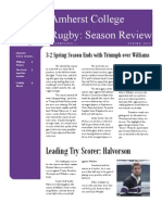 ACRFC Spring 2010 Season in Review