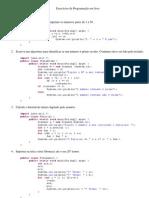 Exercícios de Programação em Java