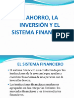 Ahorro, Inversion y Sistema Financiero