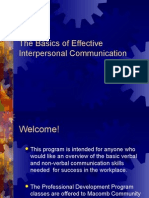 Basics of Effective Presentation