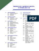 Indice Por Capitulos Edificaciones Segun Covenin 2000-92