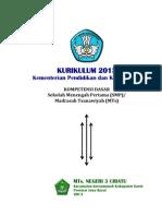 (1) KI & KD SMP_MTs. Mapel Umum Kurikulum 2013