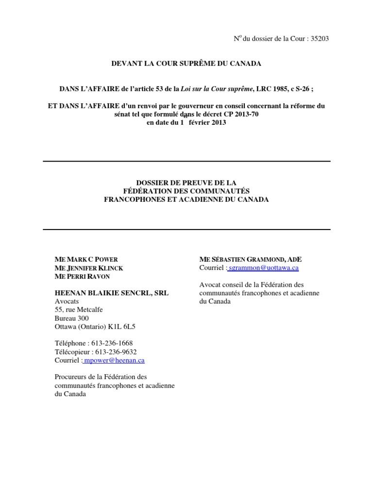 35203 Dossier De Preuve Fcfa Mai242013 Canada Quebec