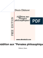 Diderot-Addition Aux Pensees Philosophiques