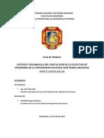 Gestión y desarrollo del portal web de la Facultad de Ingeniería de la Universidad Nacional José María Arguedas