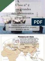 Clase n°2 Los grandes descubrimientos geográficos