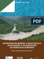 CEDHU&FIDH_Intervención minera a gran escala en Ecuador y vulneración de ddhh