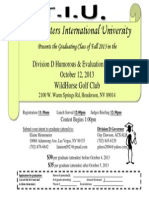 Division D Fall Contest Flyer