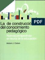 Antoni J. Colom nuevas perspectiva de la educación INCOMPLETO