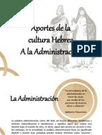 Aportes de la cultura Hebrea a la Administración.