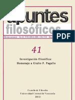 Apuntes Filosóficos Nº41 Vol. 21 2012