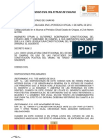 Codigo Civil Del Estado de Chiapas-Abril 2012