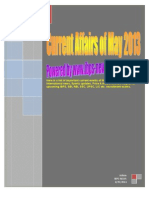 Current Affairs of May 2013