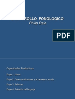 Desarrollo Fonologico. Philip Dale
