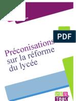 Le rapport Descoings sur la réforme des lycées