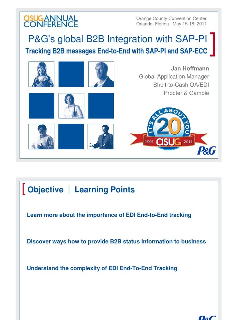 P&G's global B2B Integration with SAP-PI