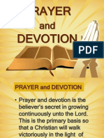 Prayer and Devotion
