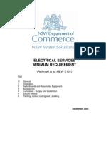 Electrical Service Minimum Requirment