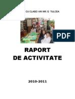 Raportde Activitate a Bibliotecii