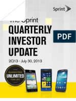 Sprint Q2 2013 Earnings Report Summary